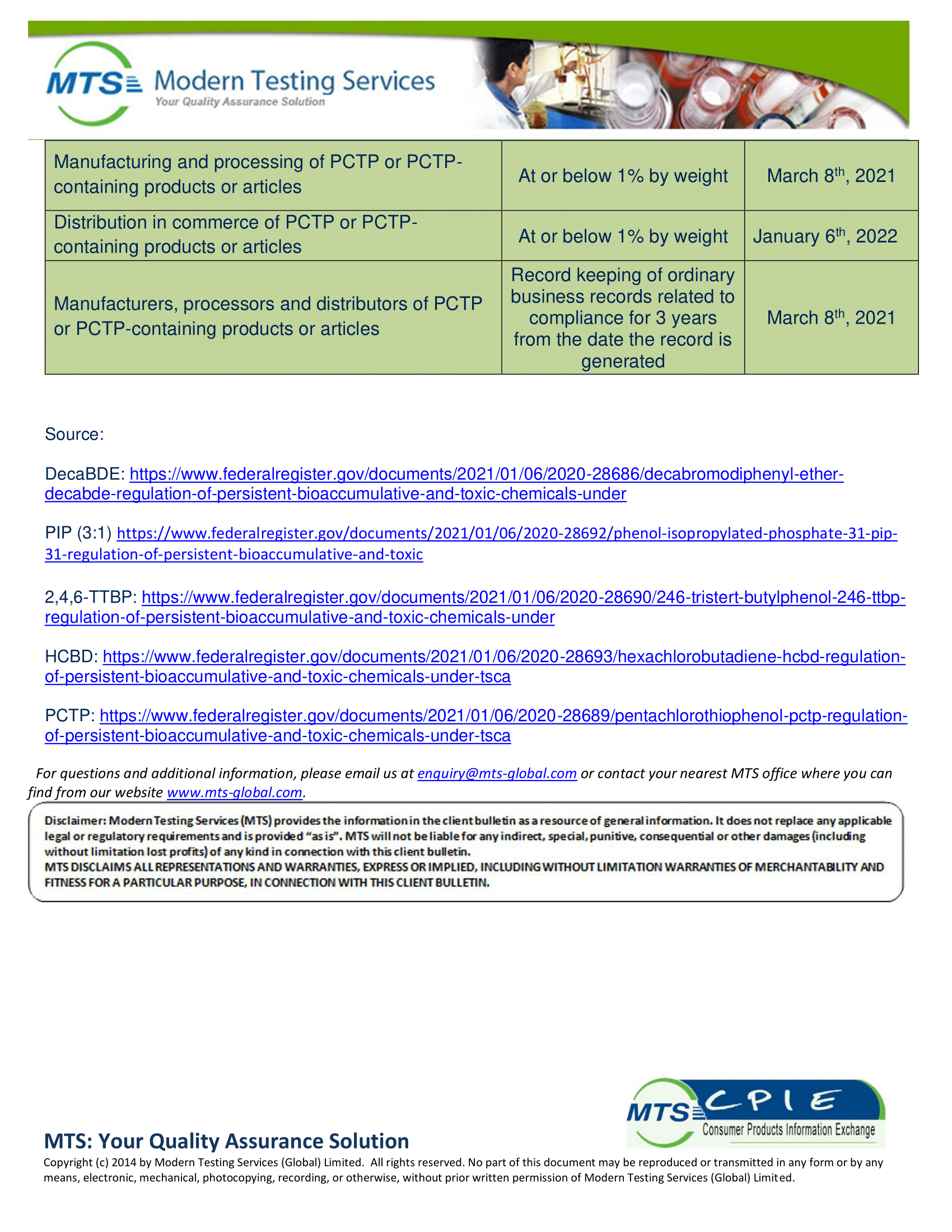 CPIE-005-21 US EPA Issues 5 Final Rules for PBT Chemicals-4